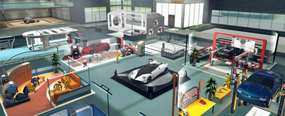 De garage in Gear Club Unlimited 2